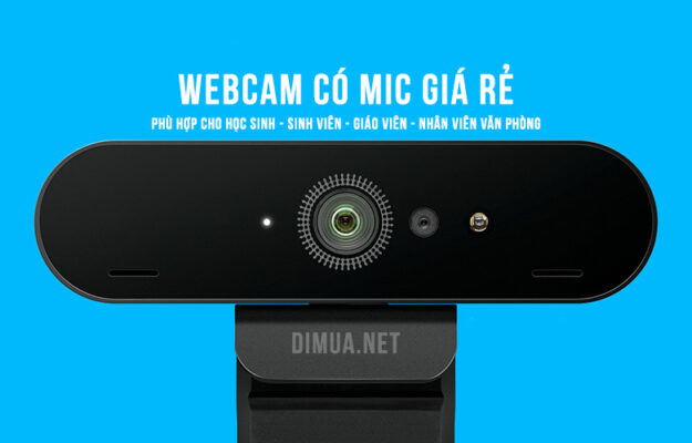 Top 4 webcam có mic giá rẻ thích hợp cho học sinh học online tại nhà